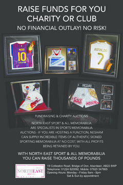 North East Memorabilia Advert