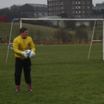 The long distribution of Torry goalkeeper Kevin Clark provided a constant threat in the 1st half