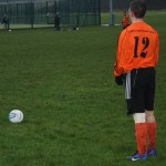 JS's Andrew Sinclair tested the Torry goalkeeper with a number of set piece efforts